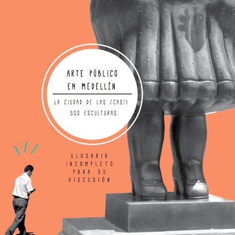 Portada del libro Arte Publico en Medellin glosario